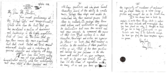 carta de Sonny Rollins a Coleman Hawkins - 550px